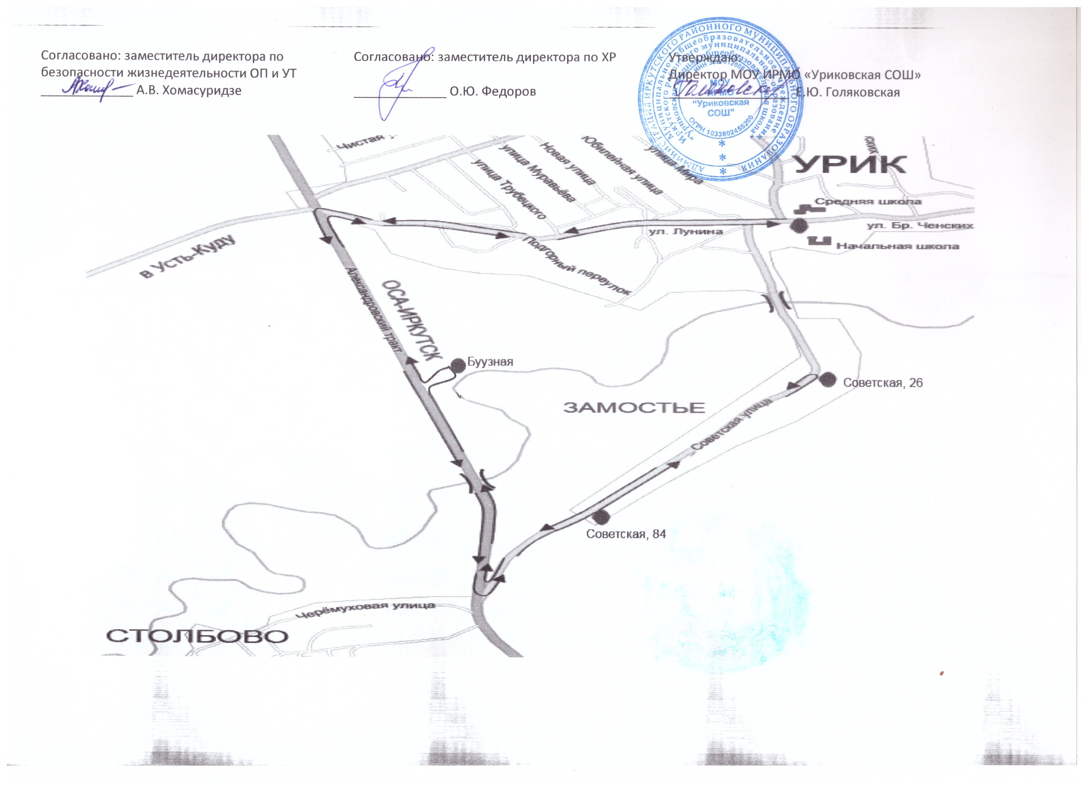 Схема пути школьника